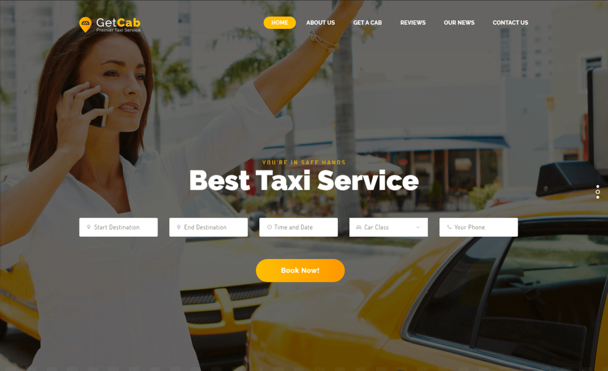 Top 10 Cab, Taxi Booking Service WordPress Themes